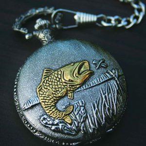 PWK- Fisherman Pocket Watch on Chain-0