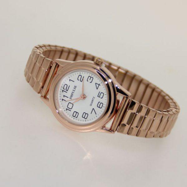 IS603 Ladies Metallics Stretch Watch - SMALL 28mm diameter dial-1159