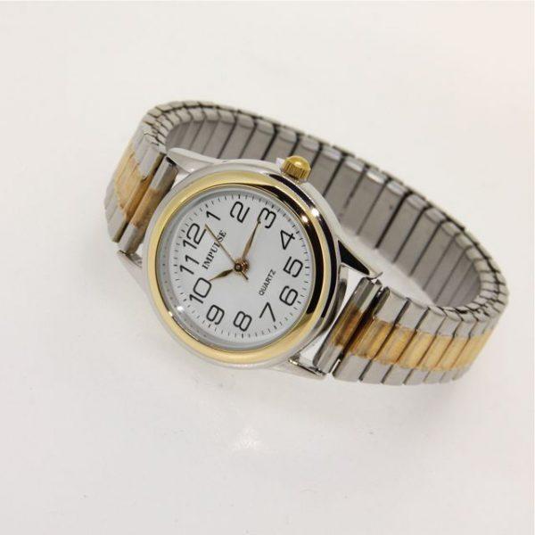 IS603 Ladies Metallics Stretch Watch - SMALL 28mm diameter dial-1158