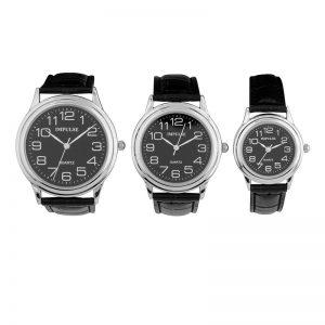 IT601 - IT603 Traditional Basic Strap Band Watches - BLACK-0