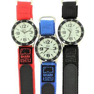SV101A (SB357V) SHARK 3ATM Men's Velcro Band Watch-2585