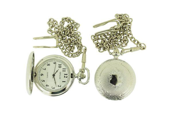 PWK-01 Pocket Watch Engraved Silver-0